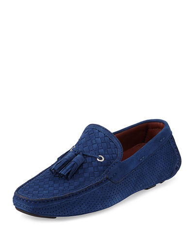 Magnanni for Neiman Marcus Woven & Perforated Suede