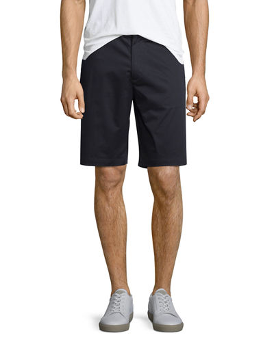 Flat-Front Sateen Shorts