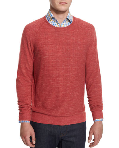 Wool-Linen Athletic Sweater