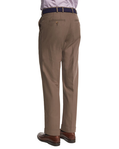 Lightweight Twill Flat-Front Pants