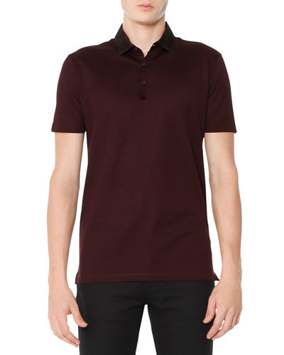 Grosgrain-Collar Polo