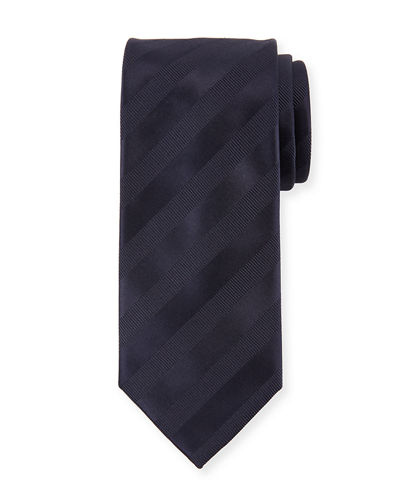 Ribbon Striped Silk Tie