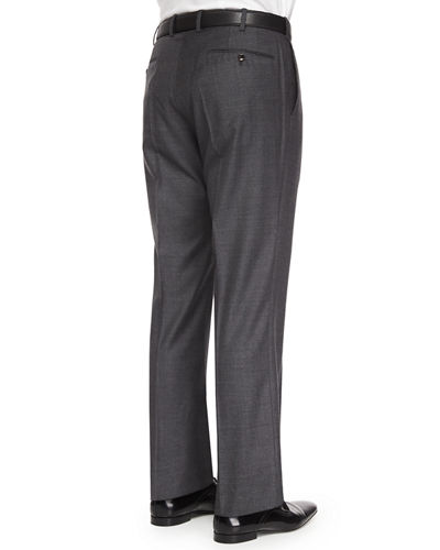 Benson Sharkskin Wool Trousers