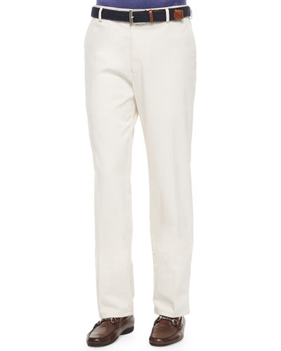 Raleigh Washed-Twill Pants