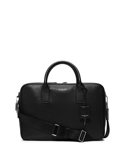 Michael Kors Dylan Zip-Top Leather Laptop Briefcase