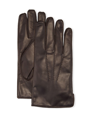 Deerskin Leather Classic Gloves with Side Slit