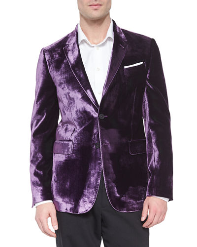Bayard Liquid Velvet Two-Button Jacket