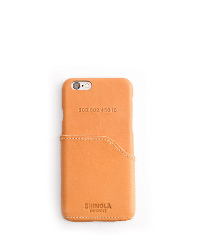 Shinola Leather Wrapped iPhone 6 Case with Pocket,