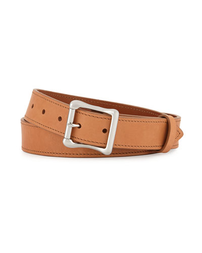 Shinola Double Bar Roller Leather Belt