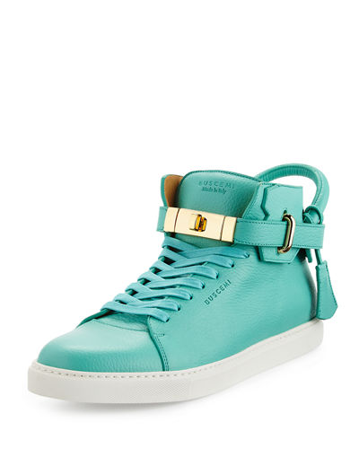 Buscemi 100mm Leather High-Top Sneaker