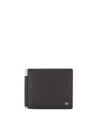 TOM FORD Men's Leather Bi-Fold Wallet with Money