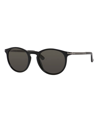 Gucci Round Acetate & Metal Sunglasses