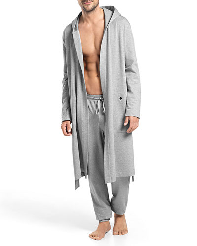 Luis Hooded Wrap Robe