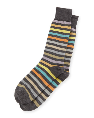 Paul Smith Twisted Bright Striped Socks