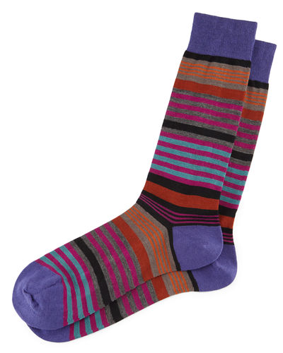 Searle Multi-Striped Dress Socks