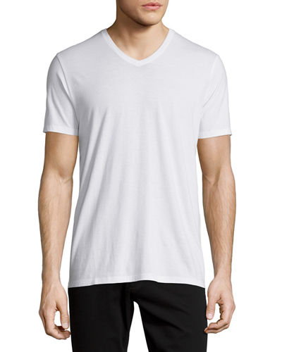 Short-Sleeve V-Neck Pima Jersey T-Shirt