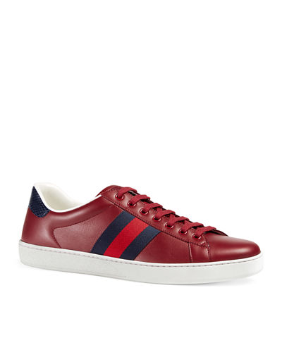 Gucci New Ace Leather Low-Top Sneaker