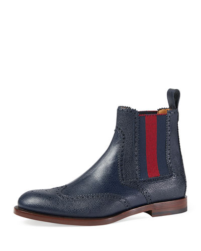 Strand Hammered Leather Chelsea Boot w/Web