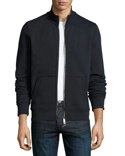Burberry Sheltone Front-Zip Sweatshirt