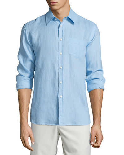 Caroubier Linen Long-Sleeve Shirt