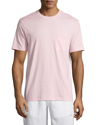 Solid Short-Sleeve Pocket T-Shirt