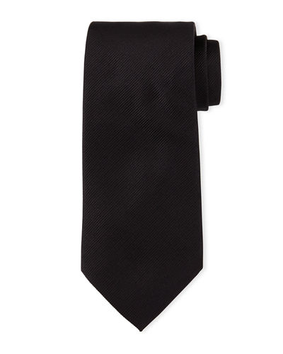 Diagonal-Stripe Twill Tie