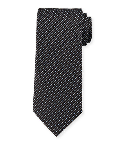 Dot & Slash Neat Printed Tie