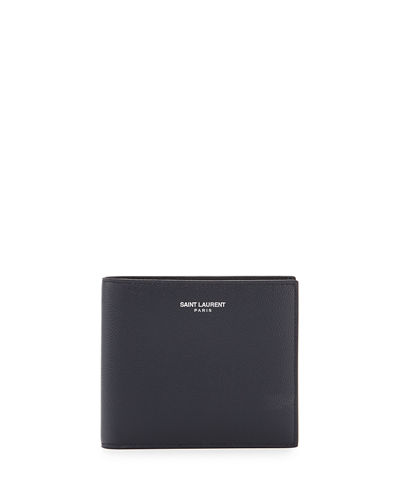 East-West Calfskin Leather Wallet