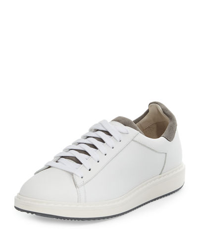 Brunello Cucinelli Icaro Leather Low-Top Sneaker