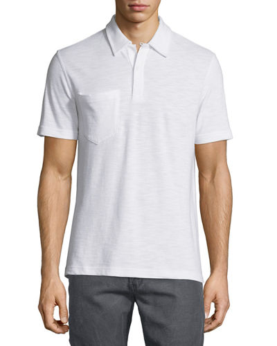 Solid Short-Sleeve Pique Polo Shirt