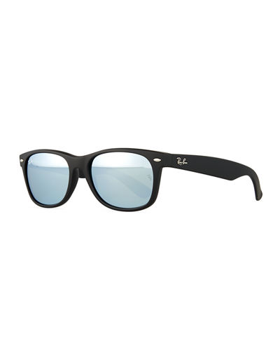 New Wayfarer Sunglasses W/Mirror Lenses