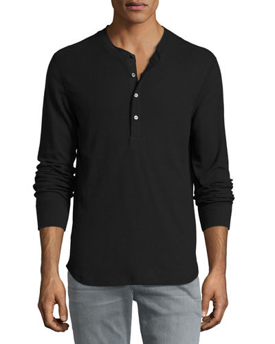 7 For All Mankind Thermal Henley T-Shirt