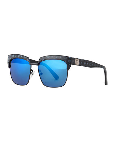 Half-Rimmed Visetos Square Sunglasses