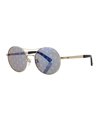 Holographic 3D Visetos Round Sunglasses