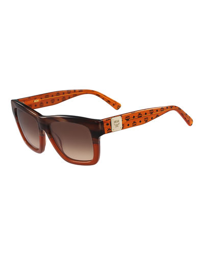 Two-Tone Plastic Sunglasses