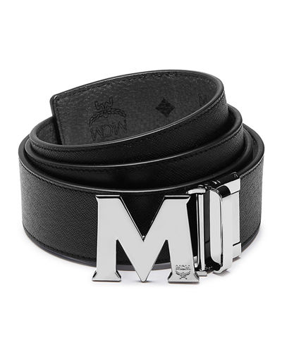 Claus Reversible Saffiano Leather Belt