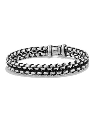 David Yurman Mens 12mm Woven Box Chain Bracelet