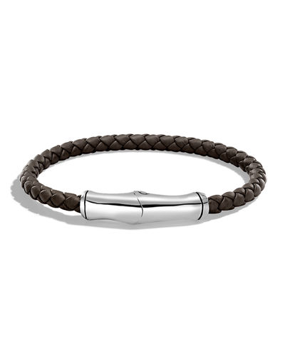 Men's 5mm Bamboo Woven Leather Bracelet