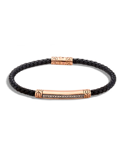 Men's 4mm Bronze Classic Chain Lava Station Bracelet with Diamonds