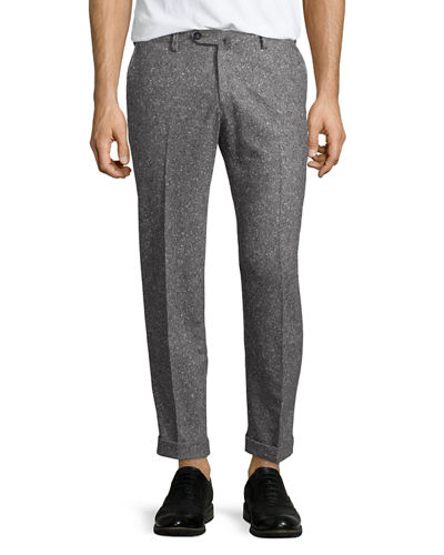 Donegal Flat-Front Trousers