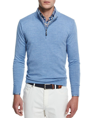 Merino Wool Quarter-Zip Sweater