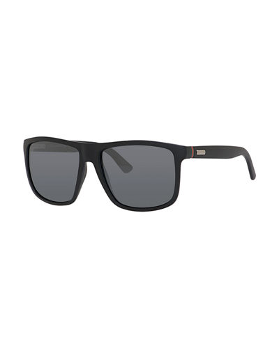 Injected Propionate Square-Frame Sunglasses