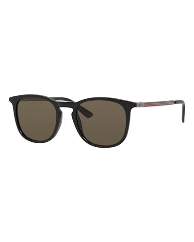 Injected Propionate Round Sunglasses