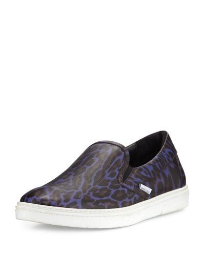 Grove Men's Leopard-Print Slip-On Sneaker
