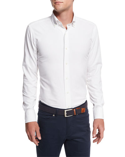Collection Perfect Pinpoint Button-Front Shirt