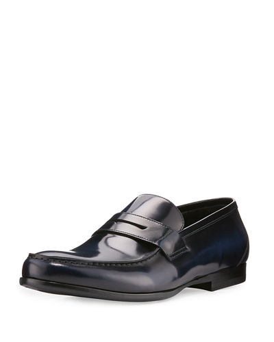 James Gloss Calf Leather Penny Loafer