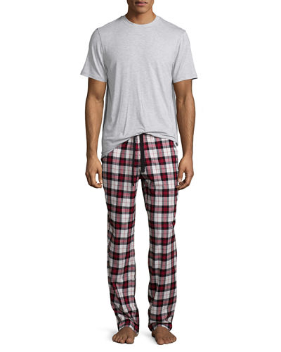 Grant Plaid Two-Piece Pajama Gift Set