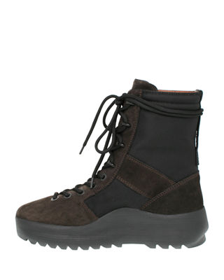 Yeezy Men's Leather & Textile Military Boot