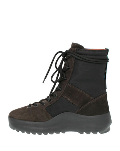 Men's Leather & Textile Military Boot