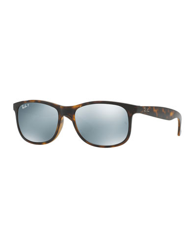 Andy Rectangular Polarized Flash Sunglasses